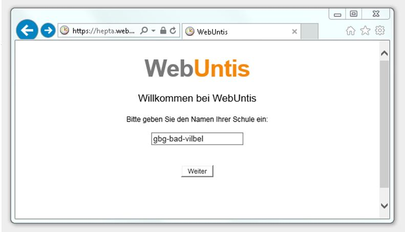 screenshoot web untis